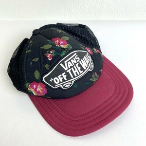 Vans Off The Wall Floral Mesh SnapBack Hat